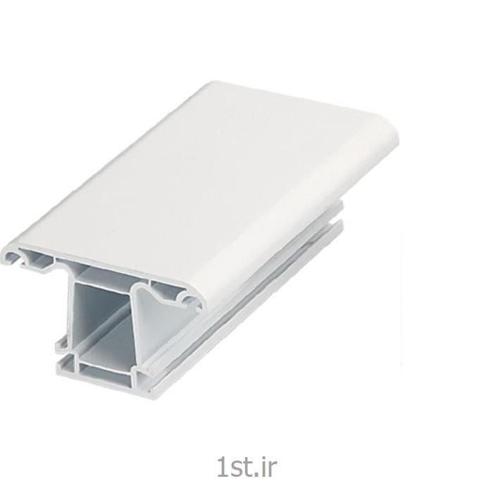 پروفیل میانی پنجره کشویی سفید و لمینیت طرح چوب مدل 7103