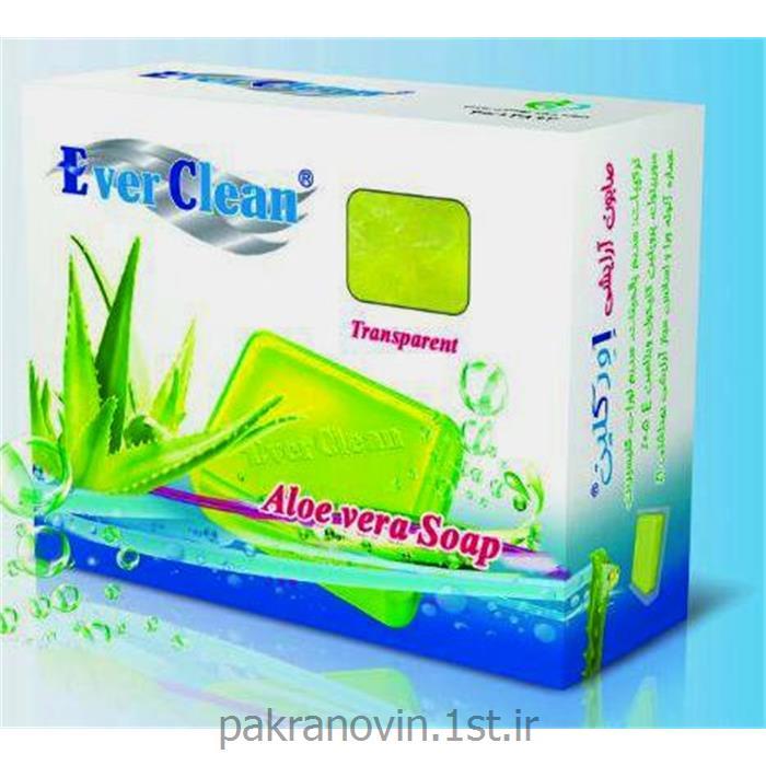 عکس صابونصابون گلیسیرینه شفاف آلوئه ورا اورکلین (Everclean aloe vera soap)