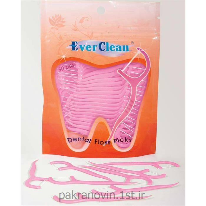 عکس نخ دندانخلال دندان کمانی اورکلین floss picks EVER CLEAN