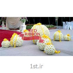 گل آرایی میز شام برای مراسم عروسی