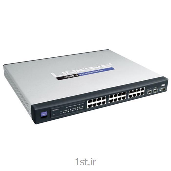 عکس سوئیچ شبکهسوئیچ شبکه 24 پورت سیسکو Cisco SRW2024 Switch