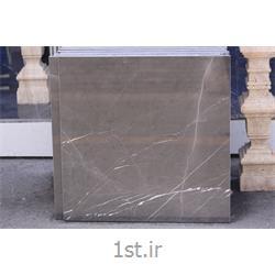عکس سنگ آهک ( کربنات کلسیم ) و مرمریتسنگ مرمریت لاشتر رنگ دودی (نجف آباد)