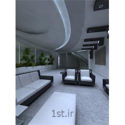 طراحی دکوراسیون داخلی لابی با رنگبندی سفید