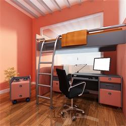طراحی دکوراسیون داخلی اتاق خواب با سبک مدرن با رنگبندی گلبهی