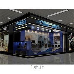 طراحی مغازه تجاری اداری با شیشه و ام دی اف MDF