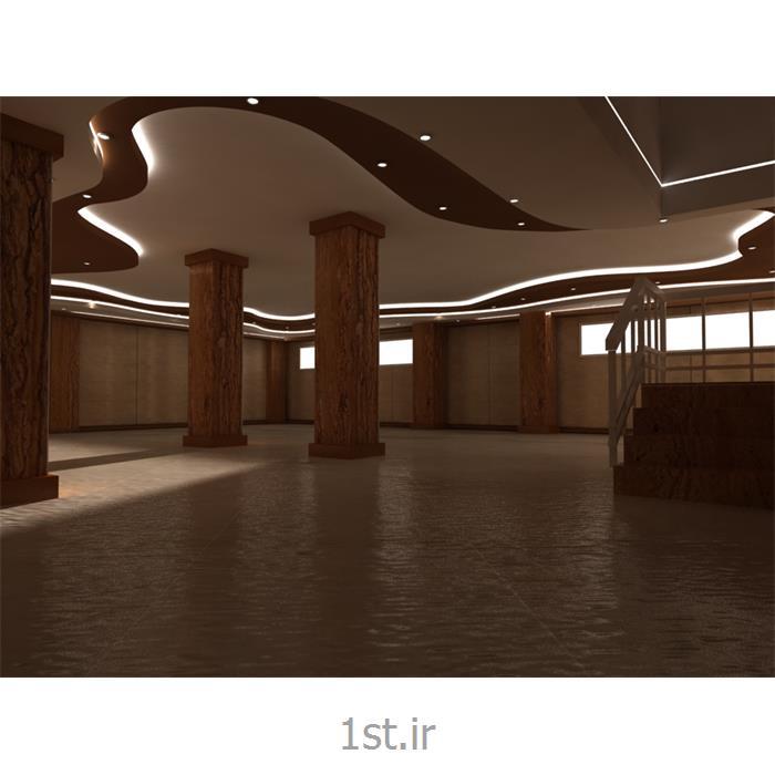 طراحی دکوراسیون داخلی محوطه با رنگبندی قهوه ای و کرمی