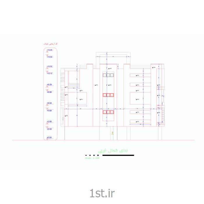 ترسیم و طراحی نقشه فاز 2 معماری