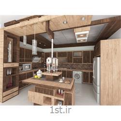 طراحی آشپزخانه با استفاده از چوب