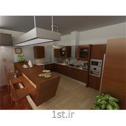 طراحی دکوراسیون داخلی آشپزخانه به سبک مدرن با رنگبندی قهوه ای