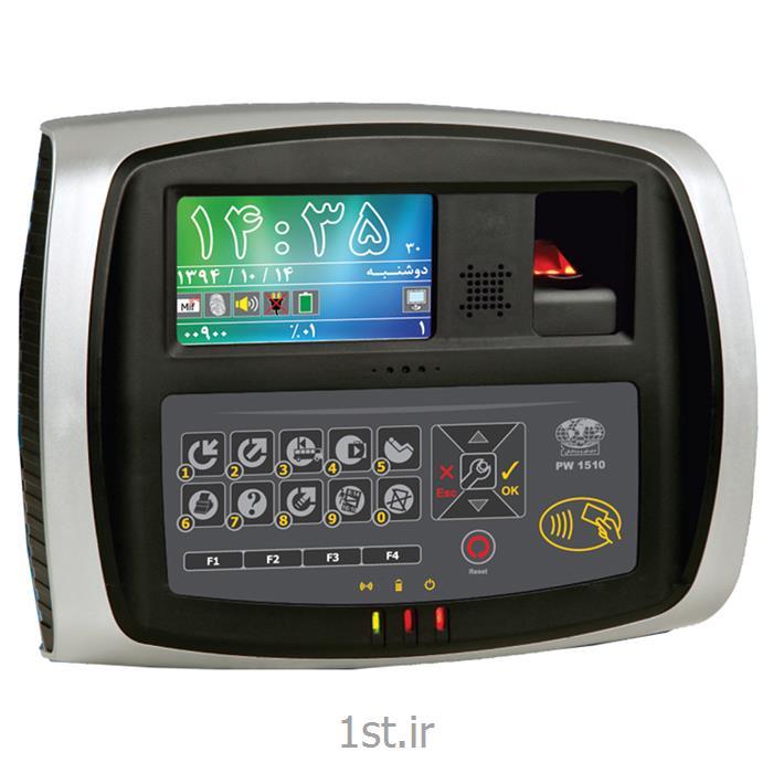 عکس کنترل دسترسی با اثر انگشت (حضور و غیاب با اثر انگشت)دستگاه حضور و غیاب کارتی و اثر انگشتی PW1510