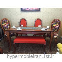 میز ناهار خوری 6 نفره چوبی مدل 127