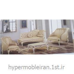 ست کامل اتاق پذیرایی مبل کلاسیک مدل گل رز کد 160