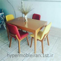 میز غذا خوری 4 نفره چوبی مدل 113