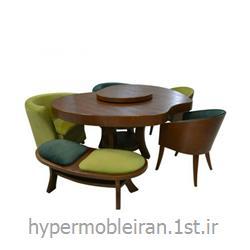 میز غذا خوری 6 نفره چوبی مدل 110