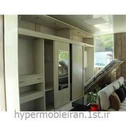 تخت کم جا اتاق خواب  با فضاهای کناری مدل SS201