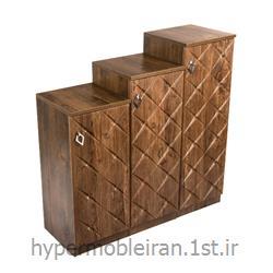 جا کفشی سه تکه چوبی  مدل 148