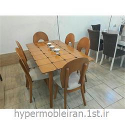میز غذا خوری 6 نفره چوبی مدل 85