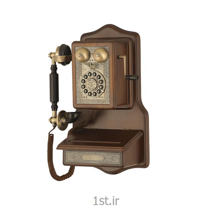 تلفن تمام چوب دیواری آنتیک مدل 1907