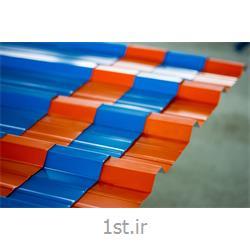عکس پوشش سقفورق سقفی شیبدار گالوانیزه (طرح ذوزنقه)