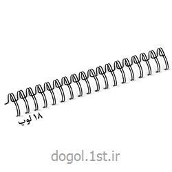 فنر دوبل 18 لوپ شیت روکشدار فلزی دوگل سایز 22.2 میل