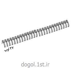 عکس سایر لوازم اداری و آموزشیفنر دوبل فلزی روکش دار شیت دوگل سایز 9.5 میل