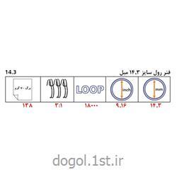 فنر دوبل رول فلزی وارداتی دوگل سایز 14.3 میل