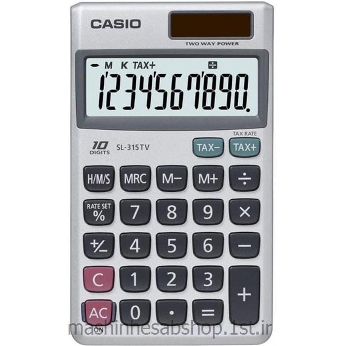 عکس ماشین حسابماشین حساب جیبی کاسیو مدل CASIO SL-315TV