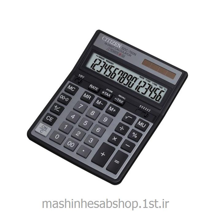 عکس ماشین حسابماشین حساب رومیزی سیتی زن مدل CITIZEN SDC-760N