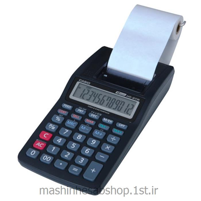 ماشین حساب چاپگر رومیزی کاسیو مدل CASIO HR-8TM-BK
