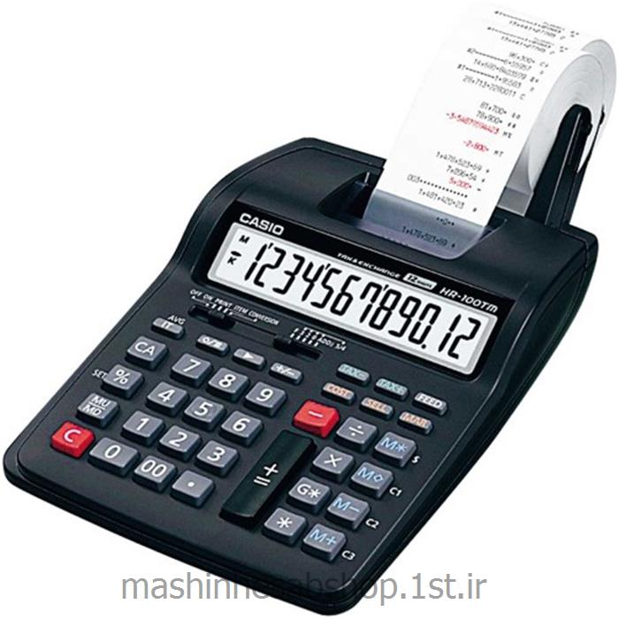 عکس ماشین حسابماشین حساب چاپگر رومیزی کاسیو مدل CASIO HR-100TM