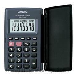 عکس ماشین حسابماشین حساب جیبی کاسیو مدل CASIO HL-820LV BK
