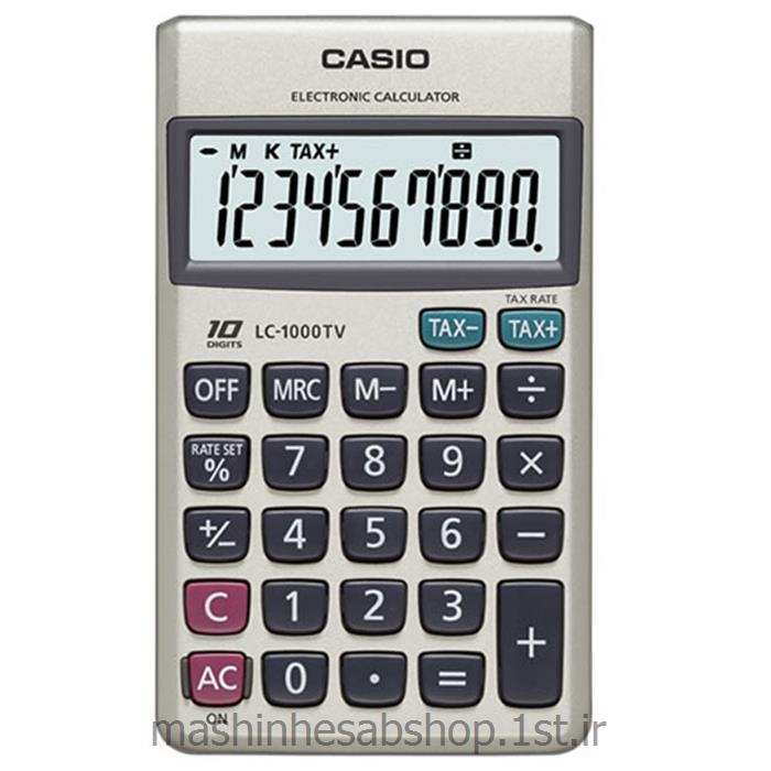عکس ماشین حسابماشین حساب جیبی کاسیو مدل CASIO LC-1000TV