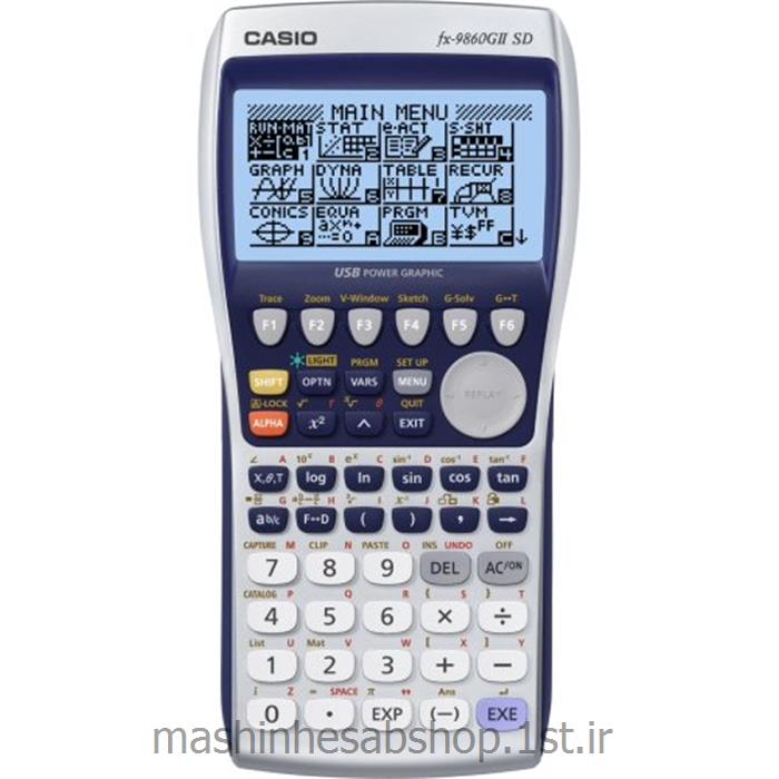 عکس ماشین حسابماشین حساب مهندسی کاسیو CASIO باقابلیت رسم نمودار مدل FX-9860 GII SD