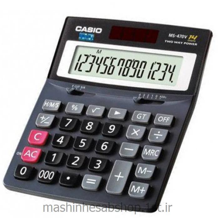 عکس ماشین حسابماشین حساب رومیزی کاسیو مدل CASIO MS-470V