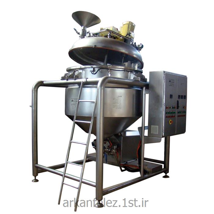عکس ماشین آلات تولید محصولات شیمیاییدستگاه میکسر هموژنایزر تحت خلاء تولید خمیر دندان سری VMH