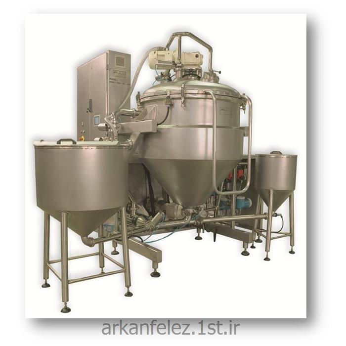 عکس ماشین آلات تولید محصولات شیمیاییدستگاه میکسر هموژنایزر تحت خلاء تولید رنگ مو