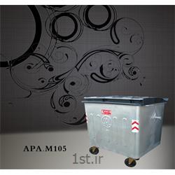 مخزن 1100 لیتری زباله از جنس گالوانیزه M105 بدون درب ورق 2 میلیمتر