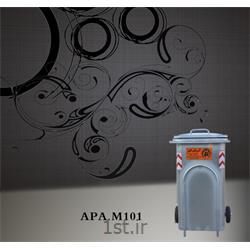 عکس مخزن زبالهمخزن 240 لیتری زباله از جنس گالوانیزه M101