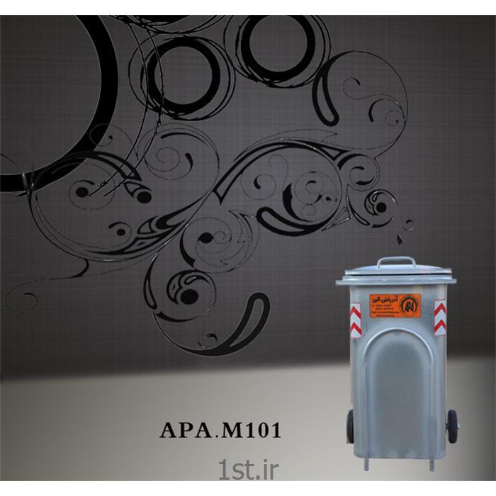 عکس مخزن زباله مخزن 240 لیتری زباله از جنس گالوانیزه M101