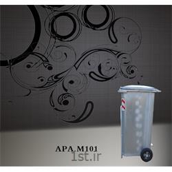 مخزن 240 لیتری زباله از جنس گالوانیزه M101