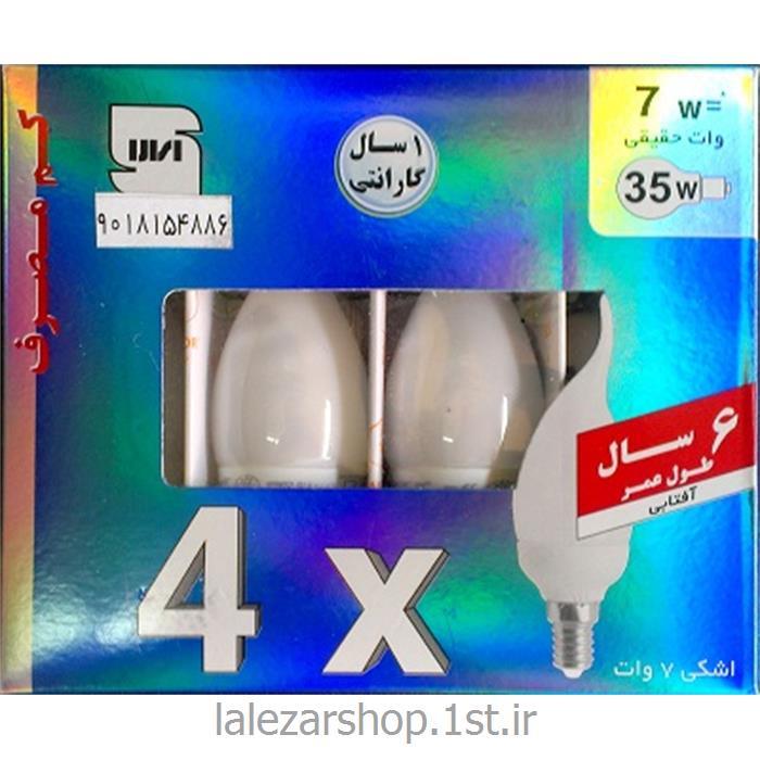 عکس لامپ کم مصرف و فلورسنتلامپ کم مصرف شمعی 7 وات نمانور