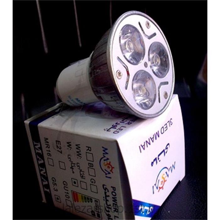 عکس لامپ ال ای دی ( LED )لامپ ال ای دی LED پاور 3 وات مانای