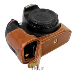 کاور چرم طبیعی دوربین نیکون D7200 قهوه ای روشن