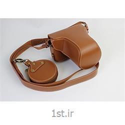 کیف چرم PU دوربین کانن 5D Mark IV قهوه ای روشن