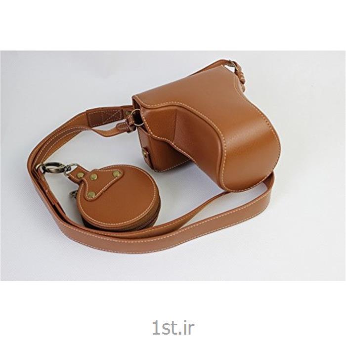 عکس سایر انواع کیف دوربین دیجیتال و لوازم جانبیکیف چرم PU دوربین کانن 5D Mark IV قهوه ای روشن