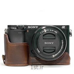 عکس سایر انواع کیف دوربین دیجیتال و لوازم جانبیکاور چرم طبیعی دوربین سونی A6300 قهوه ای تیره