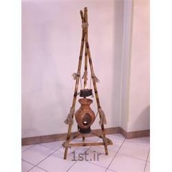 عکس پایه شمع (شمعدان)جاشمعی دست ساز ایستاده بامبو