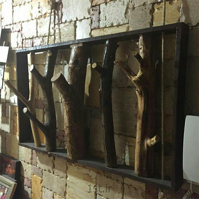 رخت آویز دست ساز چوبی دیواری