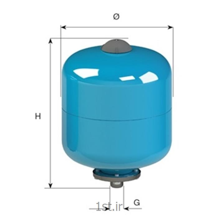 منبع تحت فشار دیافراگمی 10 بار 8 لیتری عمودی