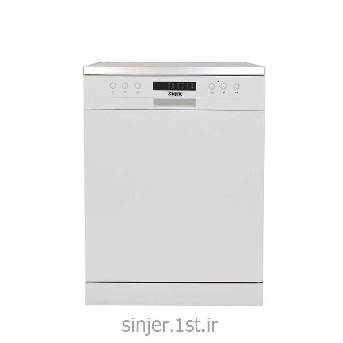 عکس ماشین ظرفشوییظرفشویی 14 نفره ایستاده سفید سینجر Sinjer DWS14-M7209W